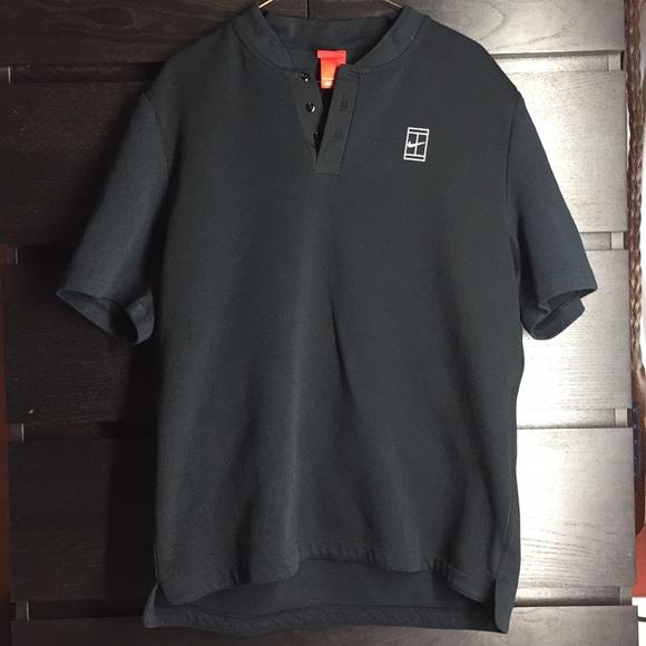 22076df03 Nike 'Blade Collar'/Short Collar Polo Shirt Black.  M_5a826e37a6e3ea2f72d91522